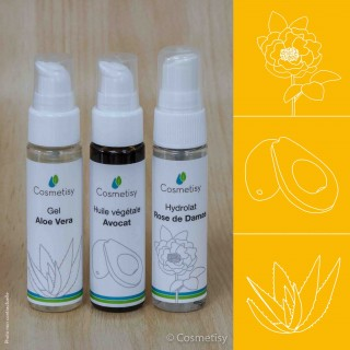 Découverte Trio Aloe Vera / Avocat / Rose de Damas