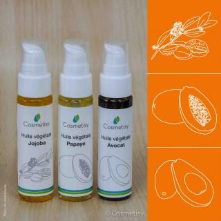 Découverte des huiles végétales Jojoba / Papaye / Avocat