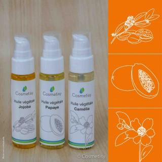 Découverte des huiles végétales Jojoba / Papaye / Camélia