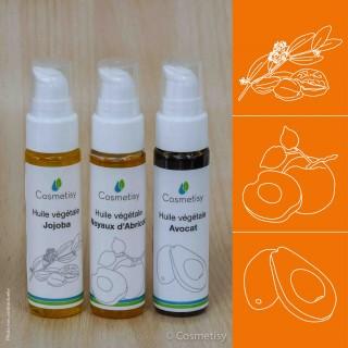 Découverte des huiles végétales Jojoba / Noyaux d'Abricot / Avocat