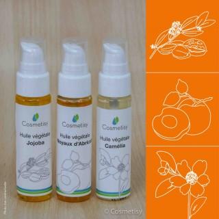 Découverte des huiles végétales Jojoba / Noyaux d'Abricot / Camélia