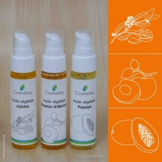 Découverte des huiles végétales Jojoba / Noyaux d'Abricot / Papaye