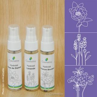 Découverte des hydrolats Rose de Damas / Lavande / Géranium Bourbon