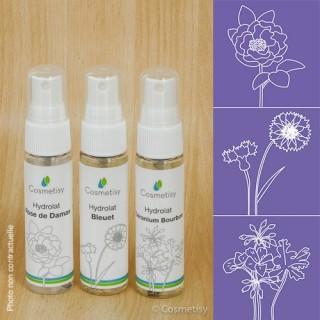 Découverte des hydrolats Rose de Damas / Bleuet / Géranium Bourbon