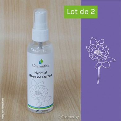Hydrolat de Rose de Damas (Lot de 2x100 ml)