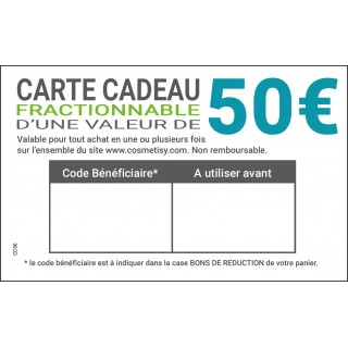 Carte cadeau 50€ à télécharger
