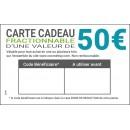 e-Carte cadeau 50€ à télécharger